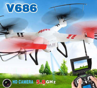 Wholesale USA Stock WLtoys V686 G FPV Monitor RC Drone Real time Quadcopter with MP HD Camera Toys