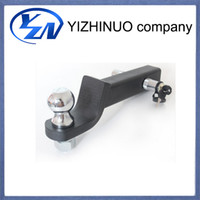 tow hitches - YN Car tool automobile tow bar trailer hitch car ball mount silvery automobile trailer arm towing bar automobiles accessories