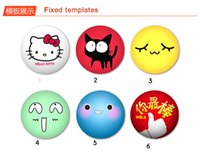 Wholesale customize pin button badge id holder plastic and metal bottom size mm32mm44mm58mm75mm custom photos logo words