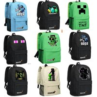 Wholesale Brand New Hot Sale High Quality Minecraft Shoulder Bag Backpack Schoolbag For Women And Men GAME Best Birthday Gift for Children