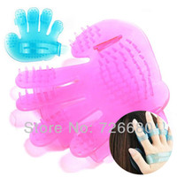 Wholesale Silica Gel Hair Washing wash Shampoo Comb Brush Massage Scalp Head Massage Care Cleaning