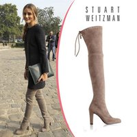 best over the knee boots - Best Selling Botas Femininas Heel Suede Leather Thigh High Boots Over The knee Women Boots