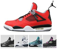 Wholesale Nike dan Retro Toro Bravo Bred Green Glow Oreo Thunder Mens Basketball Shoes New AJ4 retro IV Sneakers J4s