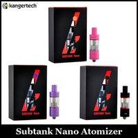 Precio de Atlantis v2 bobinas-Kanger Subox Nano negro Rosa Púrpura Subtanque Nano Sub ohm Atomizador Tanque Clone OCC Coil Refabricable Atomizador Fit Subox Mod VS Atlantis V2