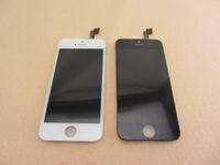 Передняя тяга для iPhone 5S LCD Digitizer сенсорный экран панели из стекла Замена отсутствие мертвого пиксела AAA ранга С Midframe