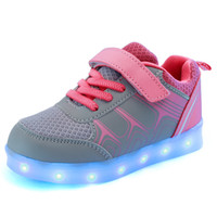 Wholesale Light Up LED Children Shoes Children Shoes with USB Sneakers For Kids Boys and Girls Charging Sole Sneakers Casual Shoes