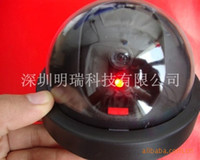 Wholesale Supply high simulation camera LED flashes more realistic simulation of a large dome camera with switch