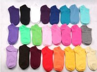 Wholesale Rainbow Colors Cotton Ship Socks Short For Girl Invisible Socks Thin Ankle Socks pairs