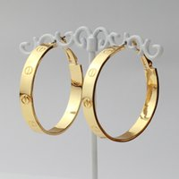 Hoop & Huggie basketball wives earrings - Classic C Brand K Real Gold Plated Hoop Earrings Basketball Wives Fashion Jewelry Gift For Women MGC E626