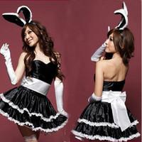 Wholesale Women Girls Christmas Xmas Santa Claus Outfits Set Cute Rabbit Cosplay Costume