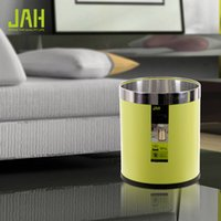 Wholesale Ann Hui Jie fashion without lid metal wastebasket home office wastebasket trash living room bedroom bathroom