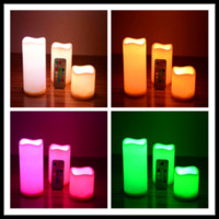 Wholesale 18 Keys Unbreakable Multi color Changing Set Flameless Flickering Lighted Party Wedding Christmas Decoration LED Candles