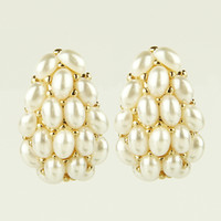 Wholesale White Exquisite Genuine Pearl Stud Earring Freshwater Pearl Earring Top Quality Jewelry and H154166