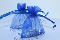 bags candy wrap - Royal blue Organza Jewelry Wedding Gift Bags x9cm X4 Inch Christmas Wedding Candy Bag