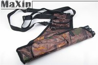 arrow shooter - Sportsman Camouflage Three Tubes Strap Pouch Arrow Quiver Arrows Holder Archery with Waist Belt for Right Hand Shooters