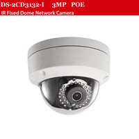 Wholesale 3MP IP camera DS CD2135F IS with POE camera m Ir distance ip66 Support Hikvision NVR ch security camera cctv