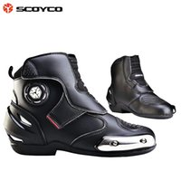 Cheap Wholesale-Authentic race motorcycle boots feather boots riding boots winter road racing cross