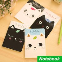 Wholesale 12 Mini schedule book Cute cat Notebook Diary caderno escolar agenda stationery office material School supplies