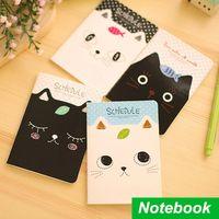 Wholesale 12 Mini schedule book Cute cat Notebook Diary caderno escolar agenda stationery office material School supplies