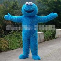Wholesale Sesame Street Blue Cookie Monster Mascot costume Fancy Dress Adult size Halloween