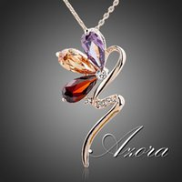 magic rose - AZORA Magic Snake K Rose Gold Plated Stellux Austrian Crystal Jewelry Pendant Necklace TN0089