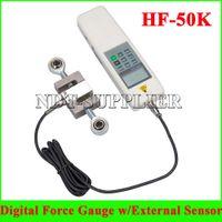 Wholesale New HF KN Ton Digital Force Gauge Meter Push Pull Tester with S External Sensor HF K