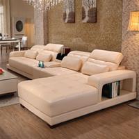 full grain leather - Modern Genuine leather sofa in sofa furniture living room furniture PU Full Grain Genuine Leather couch