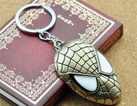 Wholesale EMS Marvel Super Hero Spider man The Amazing Spiderman Keychain Metal Key Chain Keyring Key Rings