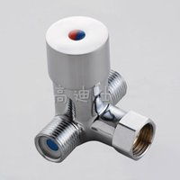 Wholesale Douche Accessories New Arrival Pipe Temperature Tempering Valve induction Faucet For Induction Valve Cold And Hot Bath Water