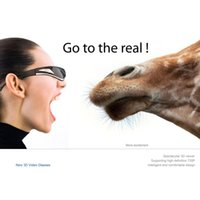 Wholesale Fashional G quot LCOS Nonradiative Display D D Anti glare Degree Virtual Video Glasses US Plug