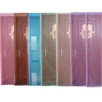 Wholesale Creative Hot Sales Summer Prevent Mosquito Fashion Stripe Punching Organza Door Curtains