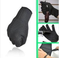 Wholesale Black kevlar work safety Gloves Proof Protect Stainless Steel Wire Safety Gloves Cut Metal Mesh Butcher Anti cutting breathable Work Glove