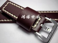 Wholesale PAM111312390 Handmade Watches Classic Leather Watchbands For Panerai mm Leather Men Watch Band
