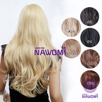 Wholesale NAWOMI High Quality Clip in Hair Extensions cm g Heat Resistance Fibre Straight Wave Long Straight Wig Curl Hairpiece