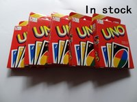 Wholesale 200sets Family Funny Entertainment Board Game UNO Fun Poker Playing Cards Puzzle Games Standard uno card