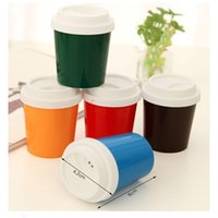 Wholesale Coffee Cup Shape Toothpick Holder Seasoning Spice Jar Box Random Color