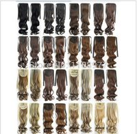 Wholesale Heat Resistance Hairpieces Ribbon Ponytail Clip in on wavy Hair Extension cm g colors available pc