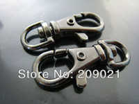 Wholesale DIY Plated Gun Black Metal Large Solid Swivel Lobster Claw Large Clasp Closure Buckle mm x mm Finding