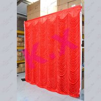 Wholesale 3M M Red Wedding Backdrop Curtain