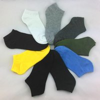 Wholesale 2015 hot sale Men s socks summer simple Breathable stealth boat socks solid color cotton short socks leisure male ankle socks