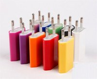 Wholesale 5V mah Colorful EU US Plug USB Wall Charger AC Power Adapter Home Charger for iphone G S G S C Samsung Galaxy S3 S4 S6