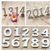 Wholesale Lowest price White Wood Wooden Numbers Alphabet For Wedding Birthday Home Decor decoration