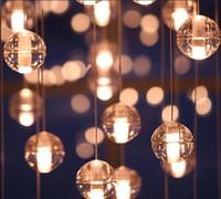 Wholesale Christmas LED Crystal Glass Ball Pendant Lamp Meteor Rain Ceiling Light Meteoric Shower Stair Bar Droplight Chandelier Lighting AC110 V