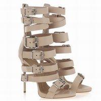 Cheap Women Heel Gladiator Sandals Best Stiletto Heel PU Sandals Bootie Lace Up