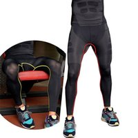 Wholesale 2015 New Arrival Men Compression Base Layer Gym Trouser Long Pants Tight Under Skin Sports Bottom for Gym Sport Running