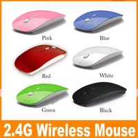Wholesale 2 G Wireless Mouse Candy color ultra thin wireless mouse and receiver G USB optical Colorful Special offer computer mouse JBD B9