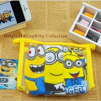 Wholesale 2015 Christmas gift D cartoon children minion briefs boys minions Despicable Me underwear boy Spider Man cars underpants New