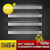 Cheap Free Shipping! 4PCS 126W Cree LED Work Light Bar 20 Inch Offroad Truck Auto SUV Car 4X4 Drive Lamp PC Len IP67 Bumper Headlight