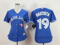 Wholesale Women Baseball Jerseys Toronto Blue Jays BAUTISTA Blue