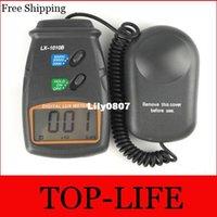 Wholesale 10pcs LX B Range LCD Digital Lux Meter Light Luminometer Luxmeter Luximetro Digital Tester